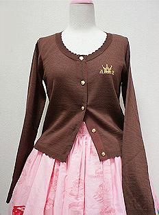 Chocolate Tiara Embroidery Knit Cardigan Angelic Pretty