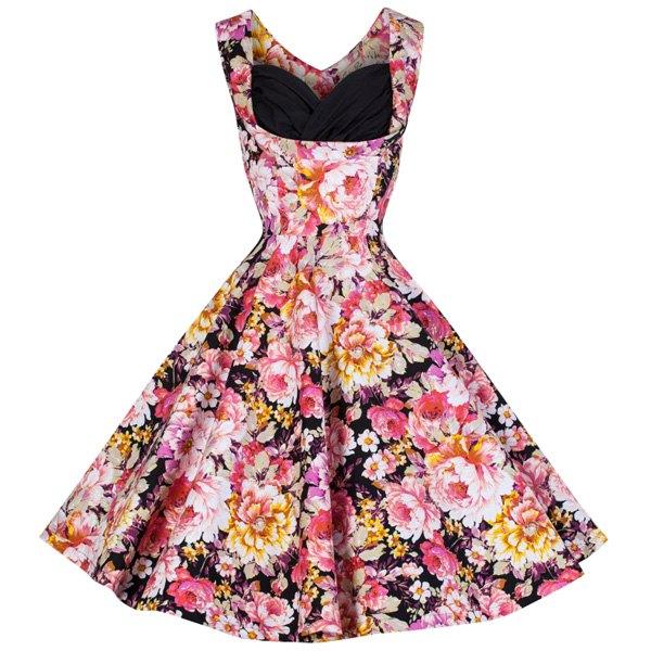 Sammy Dress Retro Print Flower Sleeveless Midi
